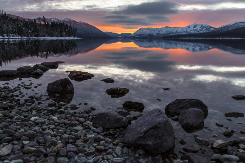 Glacier National Park Winter Apgar Lake McDonald